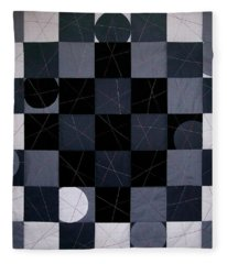 Checkers And Pick-up-sticks Fleece Blanket