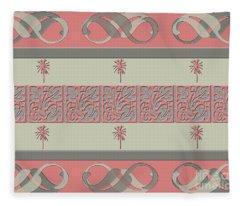 Cheery Coral Pink Fleece Blanket