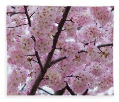 Cherry Blossoms 8611 Fleece Blanket