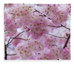 Cherry Blossoms 8625 Fleece Blanket