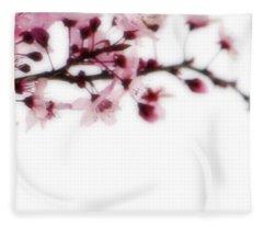 Cherry Triptych Right Panel Fleece Blanket