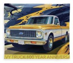 Chevrolet Centennial1971 C10 Cheyenne Fleetside Fleece Blanket