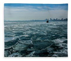 Chicago From Navy Pier 2 Fleece Blanket