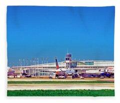Chicago, International, Terminal Fleece Blanket