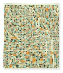 Map Fleece Blankets