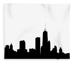 Chicago Skyline High Key Graphic Fleece Blanket