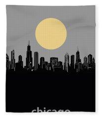Chicago Skyline Minimalism 2 Fleece Blanket