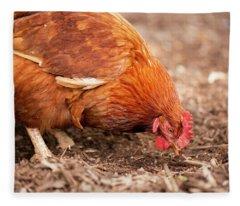 Chicken On The Farm Fleece Blanket