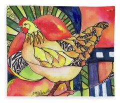 Chicken Red Fleece Blanket