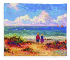 Big Island Paintings Fleece Blankets