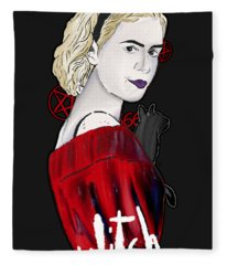 Chilling Adventures Sabrina Is A Witch Fleece Blanket