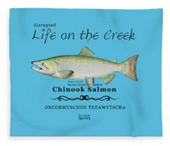 Chinook Salmon Disrupted Fleece Blanket