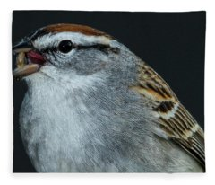 Fleece Blanket featuring the photograph Chipping Sparrow 2 by Allin Sorenson