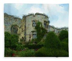 Chirk Castle Painting Fleece Blanket