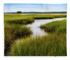 Choate Is. Estuary Ipswich Ma. Fleece Blanket