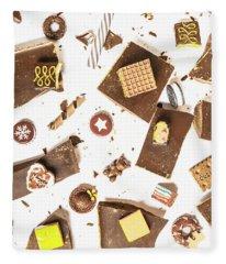 Chocolate Bar Break Fleece Blanket