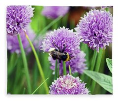 Chorley. Picnic In The Park. Bee In The Chives. Fleece Blanket