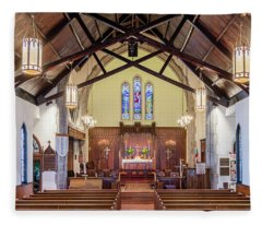 Fleece Blanket featuring the photograph Christ Episcopal Interior by Allin Sorenson