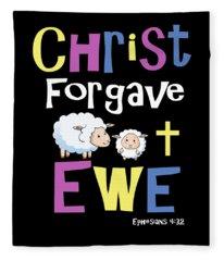 Christian Gifts For Kids Christ Forgave Ewe Fleece Blanket