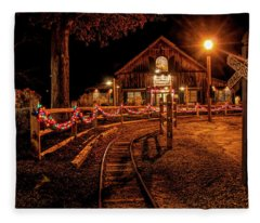 Christmas At The Barn In Smithville Fleece Blanket
