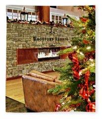 Christmas At Woodford Reserve Fleece Blanket