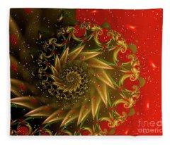 Christmas Card Design Fleece Blanket