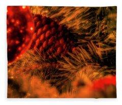 Fleece Blanket featuring the photograph Christmas Evergreen by Allin Sorenson