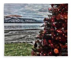 Christmas View Fleece Blanket