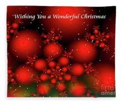 Christmas Wish Balls Fleece Blanket