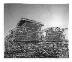 Chrome Towers Fleece Blanket