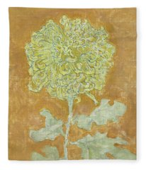 Chrysanthemum, 1942 Fleece Blanket