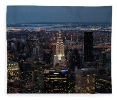 Chrysler Building Night Fleece Blanket