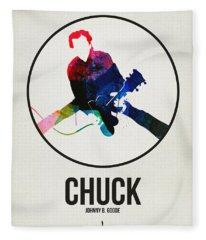 Chuck Berry Watercolor Fleece Blanket