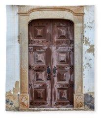 Church Door Of Obidos Fleece Blanket