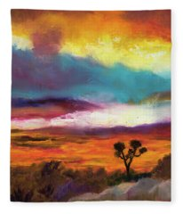 Cindy Beuoy - Arizona Sunset Fleece Blanket