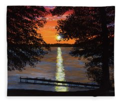 Cindy Beuoy - Lake Maxinkuckee Fleece Blanket