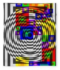 Circular Colour Fusion  Fleece Blanket