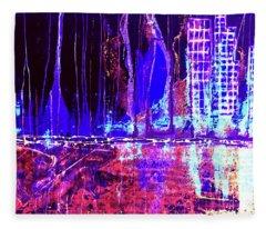 City By The Sea L Fleece Blanket