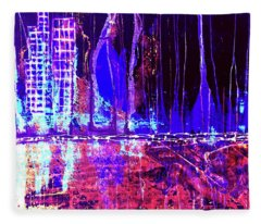 City By The Sea Right Fleece Blanket