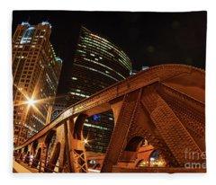 City Of The Big Shoulders Fleece Blanket