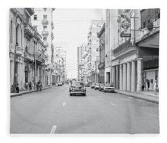 City Street, Havana Fleece Blanket