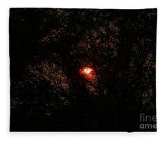City Sunrise Fleece Blanket