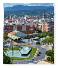 Cityscape In Reus, Spain Fleece Blanket