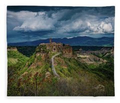 Civita Di Bagnoregio Fleece Blanket