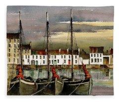 Cladagh Sunset, Galway. Fleece Blanket