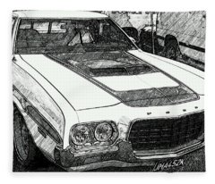 Classic Ford Sketch Fleece Blanket
