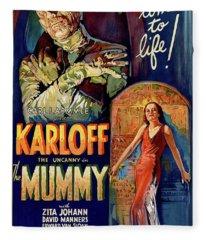 Classic Movie Poster - The Mummy Fleece Blanket