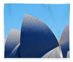 Classic Opera House Sails Fleece Blanket