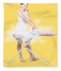 Cleaning Lady Steam Pressing Ironing Board Cover Fleece Blanket