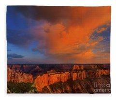 Clearing Storm Cape Royal North Rim Grand Canyon Np Arizona Fleece Blanket